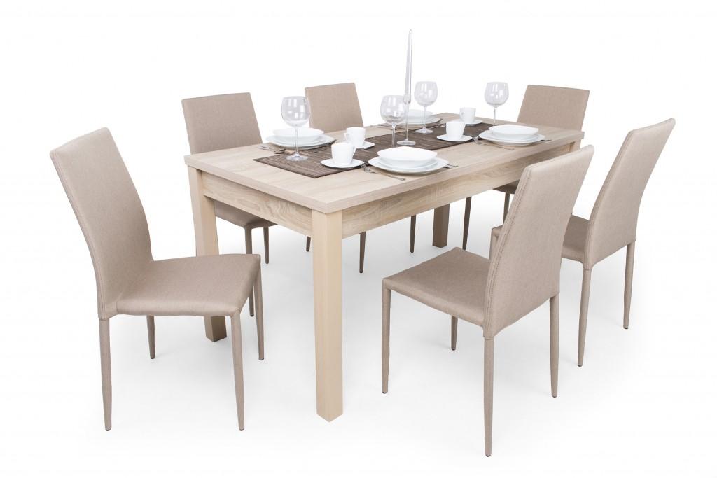 Alan 6 személyes étkező (Berta asztal) DV - Étkező garnitúrák